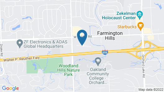 Holiday Inn Hotel & Suites Farmington Hills - Detroit NW, an IHG Hotel Map