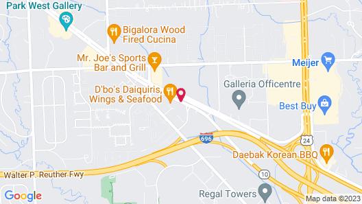 SpringHill Suites Detroit Southfield Map