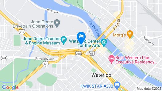 Courtyard by Marriott Waterloo Cedar Falls Map