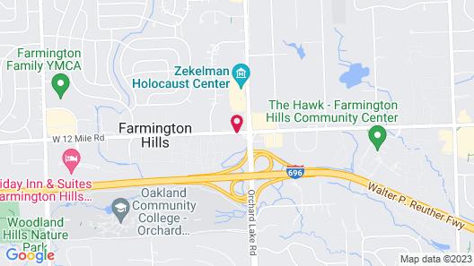 Radisson Hotel Detroit-Farmington Hills Map
