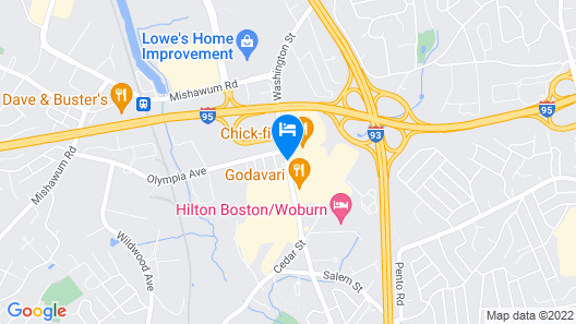 Hampton Inn Woburn Boston Map
