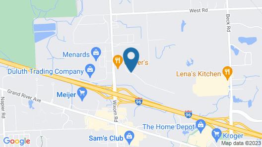 Hampton Inn & Suites Wixom/Novi/Detroit, MI Map