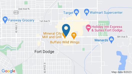 Sleep Inn & Suites Fort Dodge Map