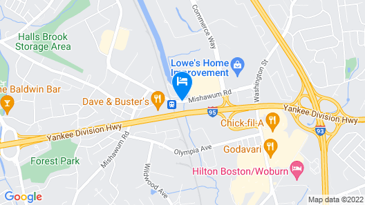 Fairfield Inn by Marriott Boston Woburn-Burlington Map