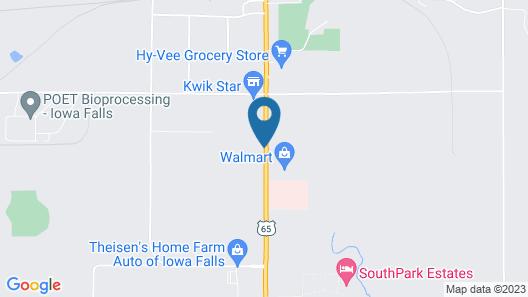 Super 8 by Wyndham Iowa Falls Map