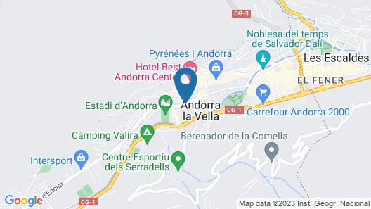 Holiday Inn Andorra Map