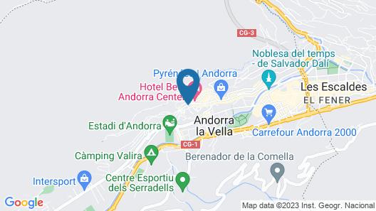 Hotel Pyrénées Map