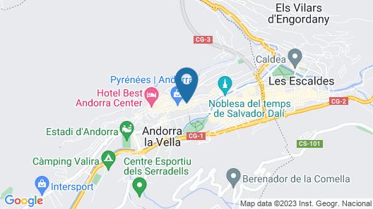 Eurostars Andorra Map