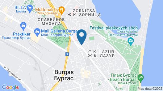 Aqua Hotel Burgas Map