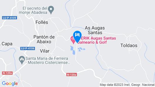 Iberik Hotel Balneario Augas Santas Map