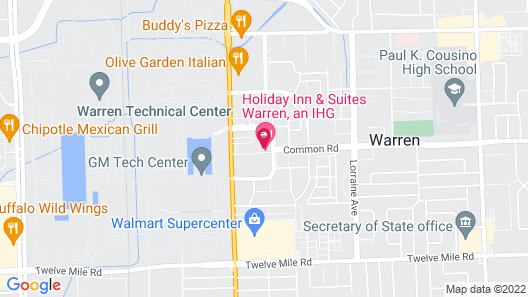 Holiday Inn Hotel & Suites Warren, an IHG Hotel Map