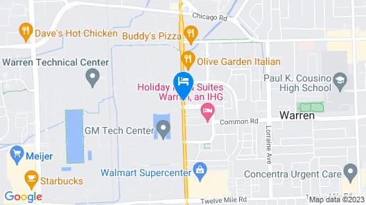 Courtyard by Marriott Detroit Warren Map