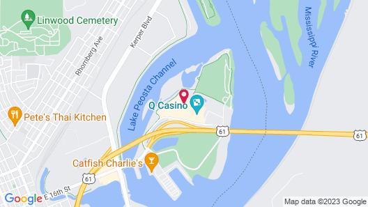Hilton Garden Inn Dubuque Downtown Map