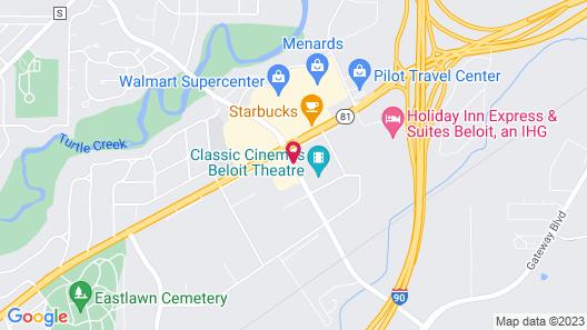 Hampton Inn Beloit Map