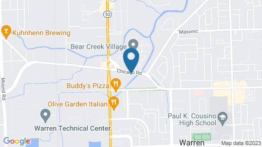 Motel 6 Warren, MI - Detroit East Map
