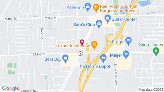 Days Inn & Suites by Wyndham Roseville/Detroit Area Map