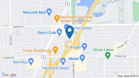 Super 8 by Wyndham Roseville/Detroit Area Map
