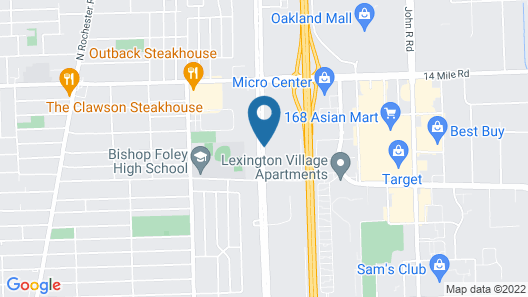 WoodSpring Suites Detroit Madison Heights Map