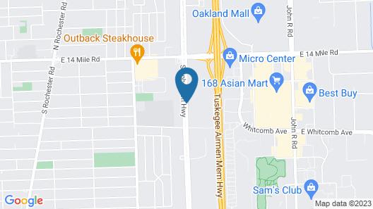 Hampton Inn Detroit/Madison Heights/South Troy Map