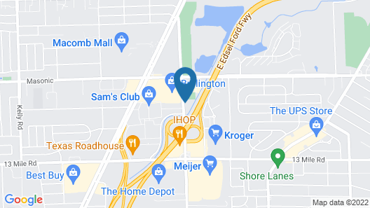 Red Roof Inn Detroit - St Clair Shores Map