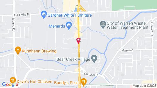 Hampton Inn & Suites Detroit/Warren Map