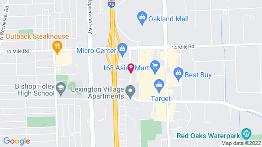 Red Roof Inn Detroit - Royal Oak Madison Heights Map