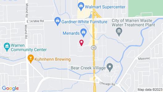 Comfort Inn Detroit/Warren Sterling Heights Map