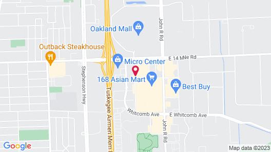 Motel 6 Madison Heights, MI - Detroit Northeast Map