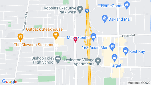 Baymont by Wyndham Madison Heights Detroit Area Map