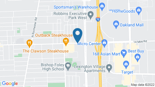 Days Inn & Suites by Wyndham Madison Heights MI Map