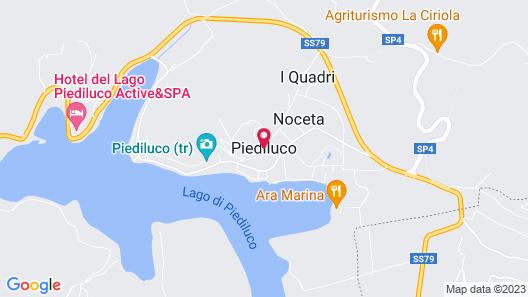 Camping Lago di Piediluco Map