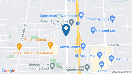 TownePlace Suites by Marriott Detroit Troy Map