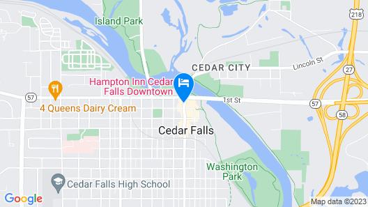 The Black Hawk Hotel Map