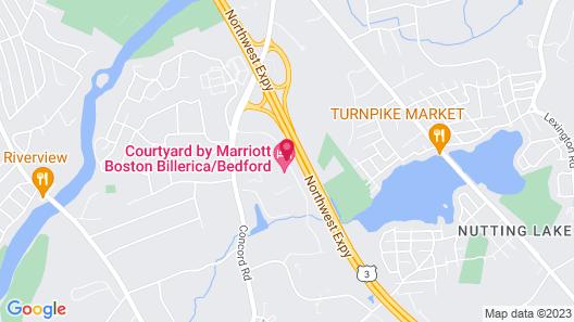 Courtyard by Marriott Boston Billerica/Bedford Map