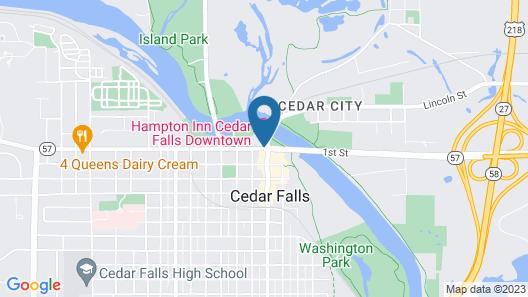 Hampton Inn Cedar Falls Downtown Map