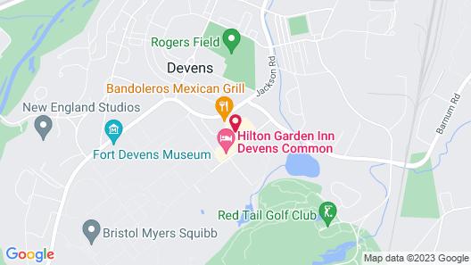 Hilton Garden Inn Devens Common Map