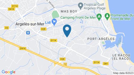 Hôtel Bleu Azur Map