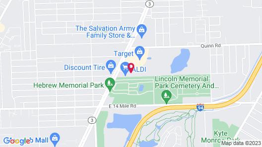 Hampton Inn Detroit/Roseville Map