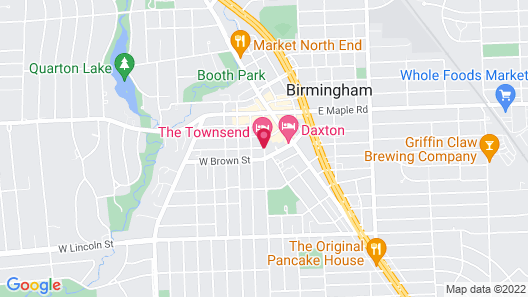 The Townsend Hotel Map