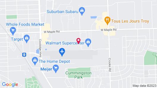 Homewood Suites by Hilton Detroit-Troy Map