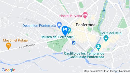 Hotel Temple Ponferrada Map
