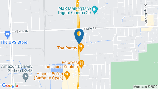 Super 8 by Wyndham Sterling Heights/Detroit Area Map
