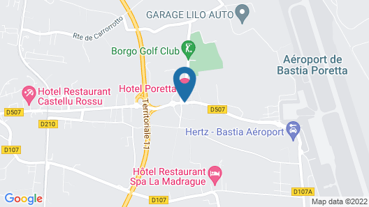 Hotel Poretta Map
