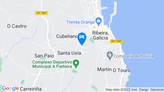 Ribeira: Stone House, Ideal for 3 or 4 Couples Map
