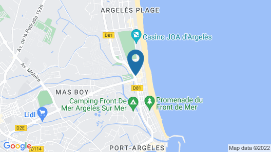Hotel Centre Plage Map