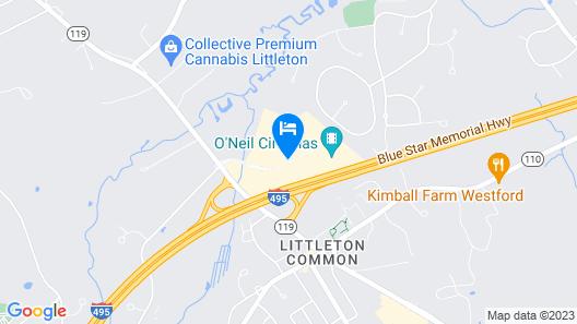 Courtyard by Marriott Boston Littleton Map
