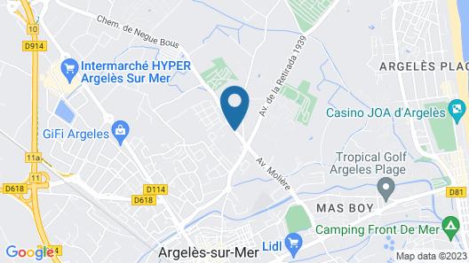 Vacancéole – La Massane – Argelès sur mer Map