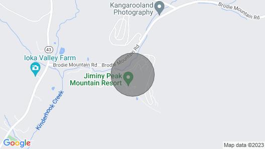 Ski/in Ski/out Bentley Brook @ Jiminy Peak Rentals Map
