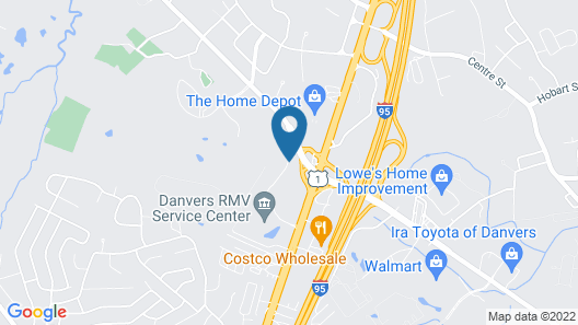 Candlewood Suites Boston North Shore Danvers, an IHG Hotel Map
