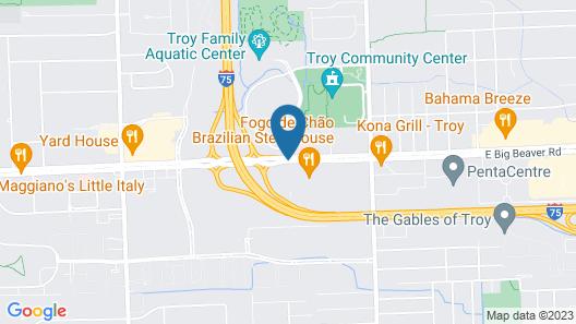 Drury Inn & Suites Detroit Troy Map